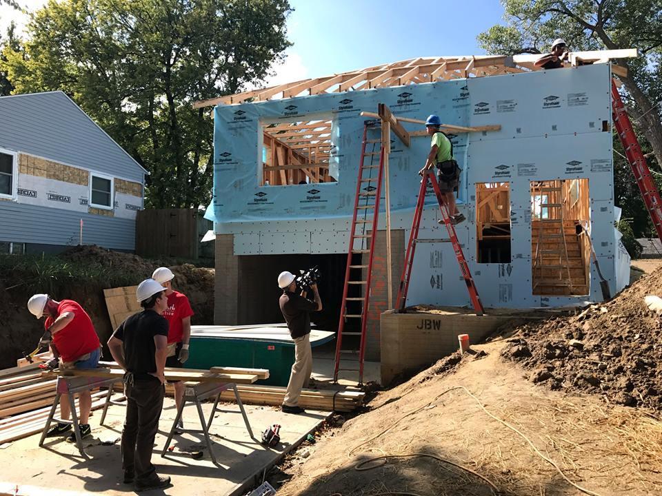 An earlier Omaha Habitat for Humanity build